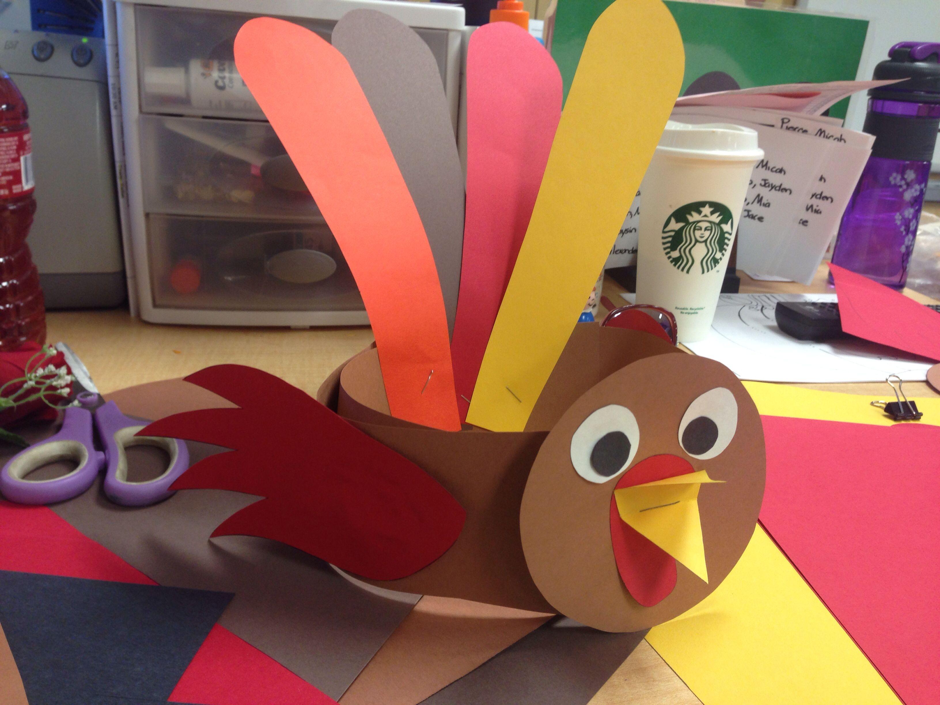 Thanksgiving Turkey Hat For Preschool Or Kinder Easy