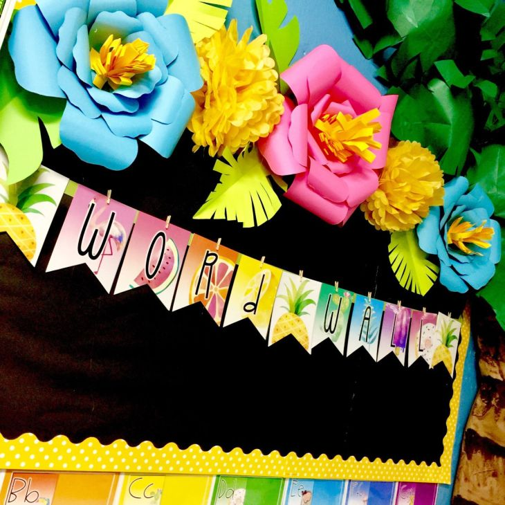 Giant Paper Flowers  Classroom décor Classroom setup and Classroom