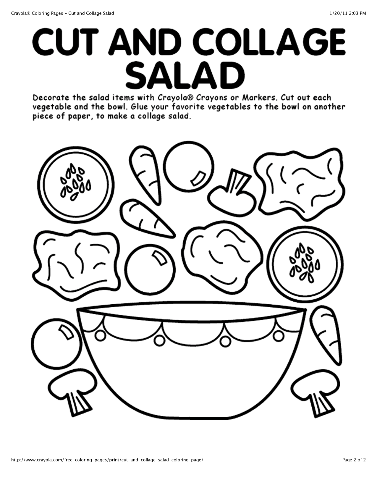 Activity Page To Keep The Kids Busy Saladswap