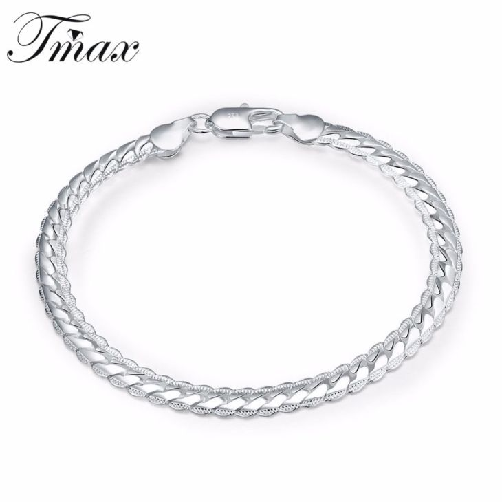Hot Selling New Cuff Bracelets For Cool Men Trendy Design Silver