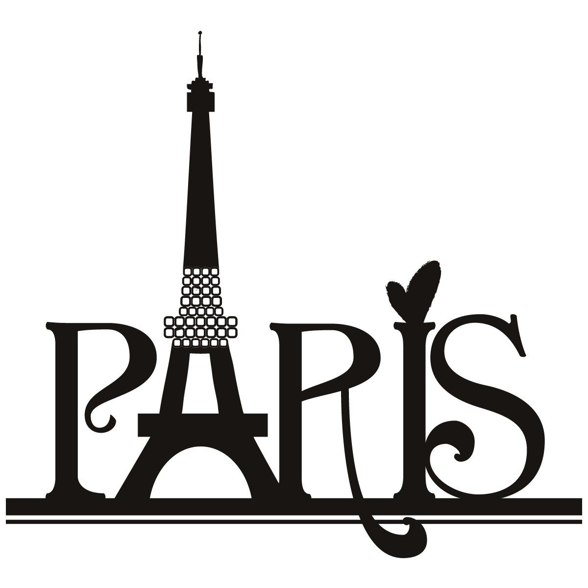 Paris Eiffel Tower Wall Art Sticker 30 Need To Adjust The