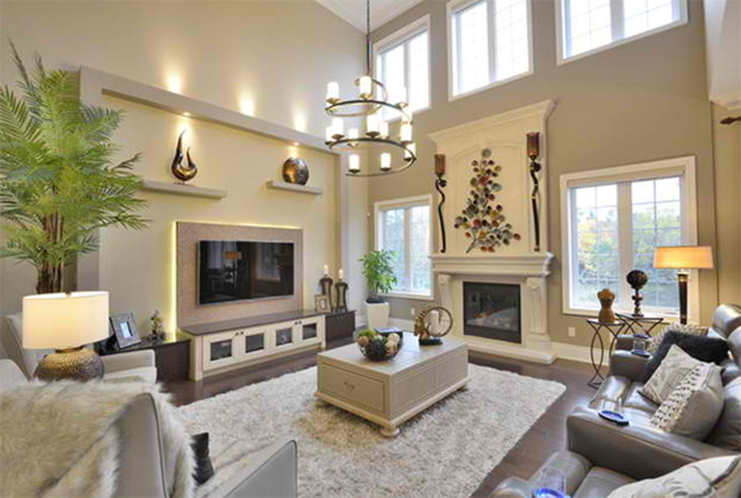 Living Room High Ceiling Decoration For Living Room With
