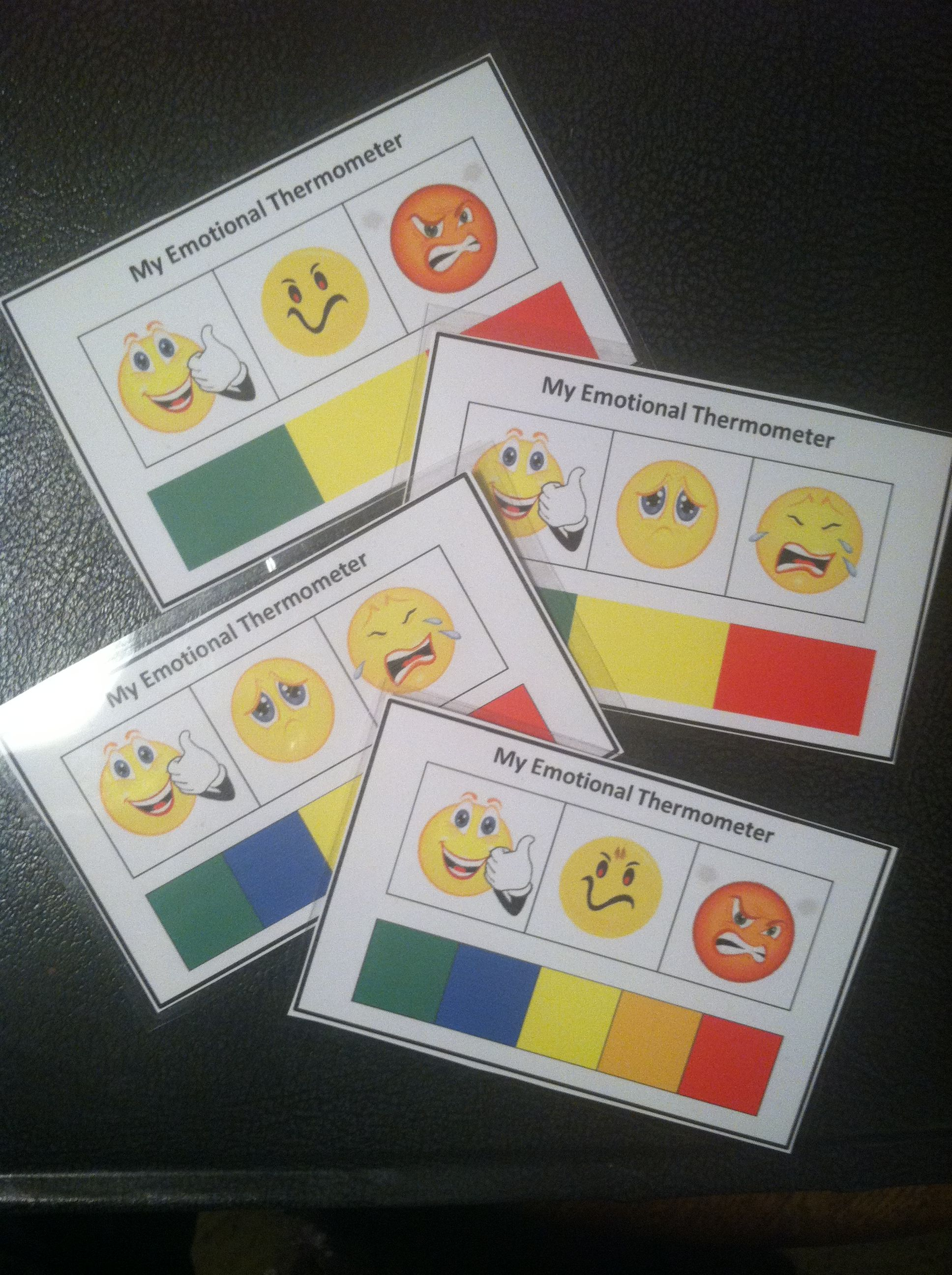 My Emotional Thermometer Visual Support Charts To Assist
