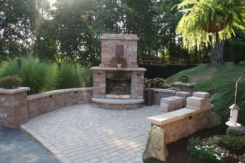 small outdoor patio fireplaces Small Outdoor Fireplace | Outdoor Fireplace Construction