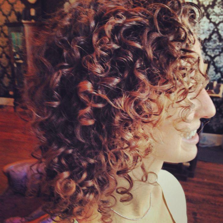 Flamboyage on curly hair Davines Pinterest Hair specialist