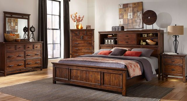 Wolf Creek Bookcase Bedroom Set Intercon Furniture