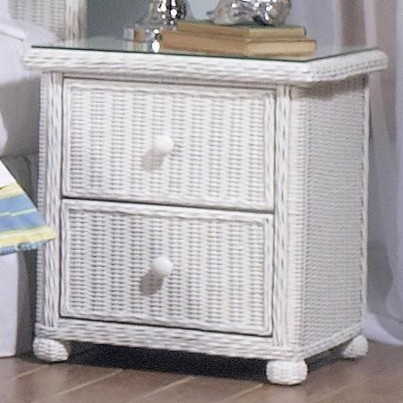 Wicker 2 Drawer Nightstand Elana The Is Ideal Framed On Wood Lends An Elegant Touch To