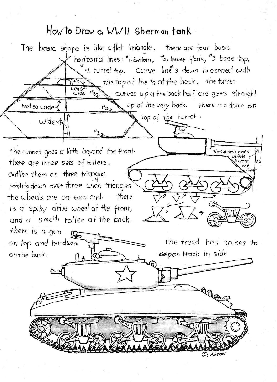 How To Draw A Wwii Sherman Tank Worksheet Read The Lesson At The Blog