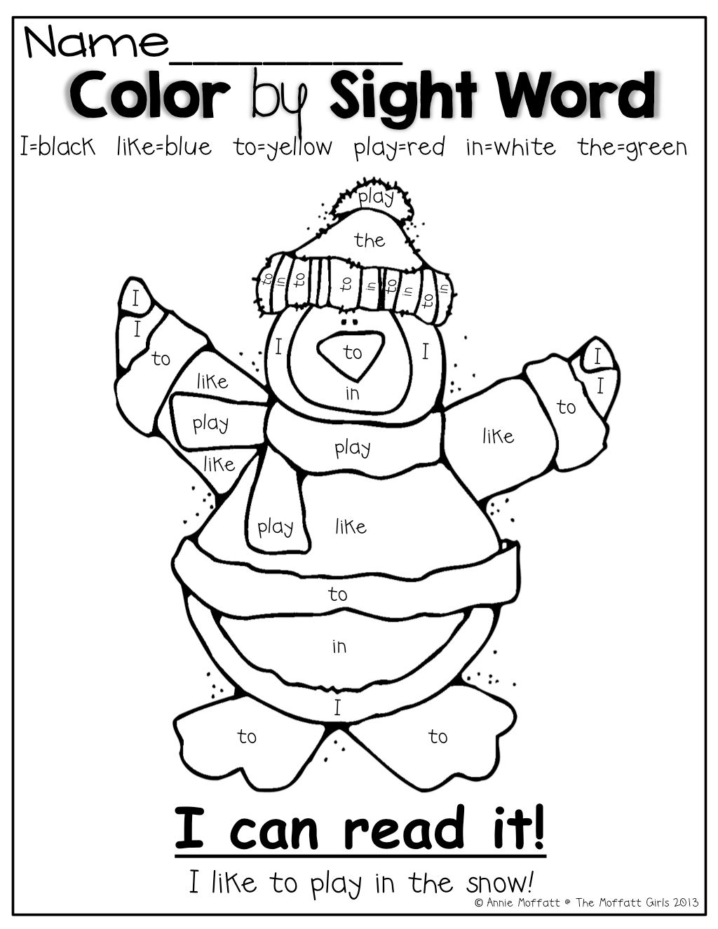 Color By Sight Word Such A Fun Way To Practice And