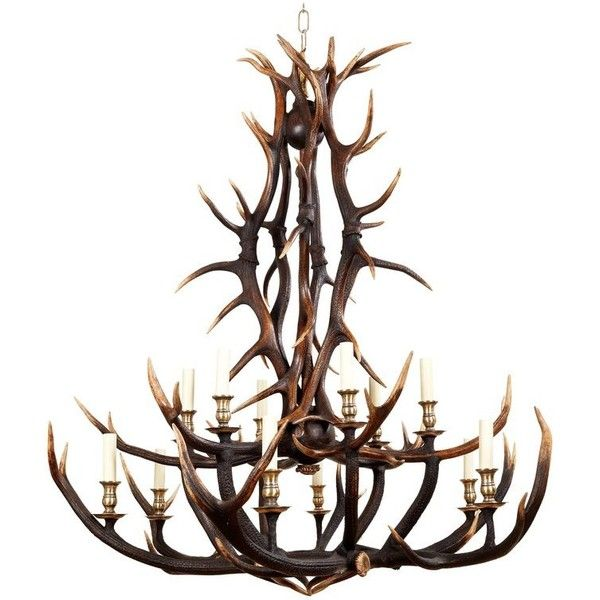 Anthony Redmile Scottish Red Deer Antler Or Stag Horn Chandelier 8 400 Liked On Polyvore Featuring Home Lighting Ceiling Lights Chandeliers