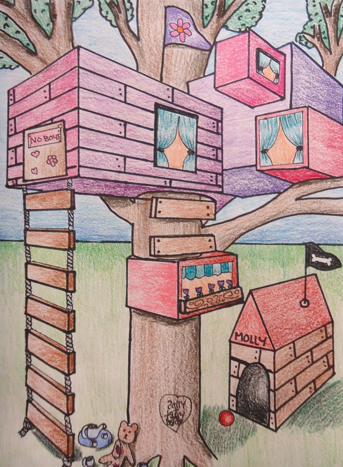 2 Point Perspective Treehouse