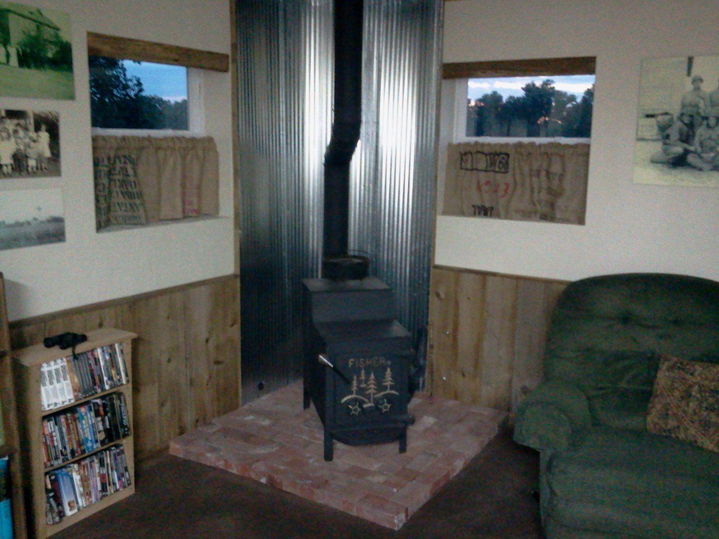 Wood Stove Heat Shield