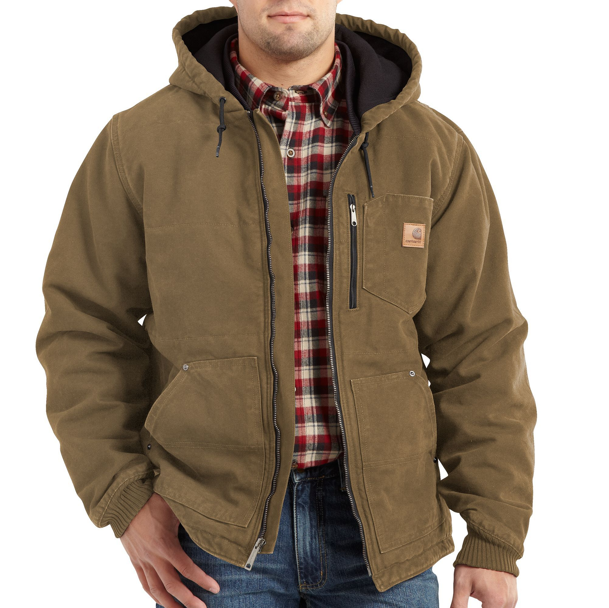 carhartt mens chapman jacket 100729 frontier brown on cheap insulated coveralls for men id=99238