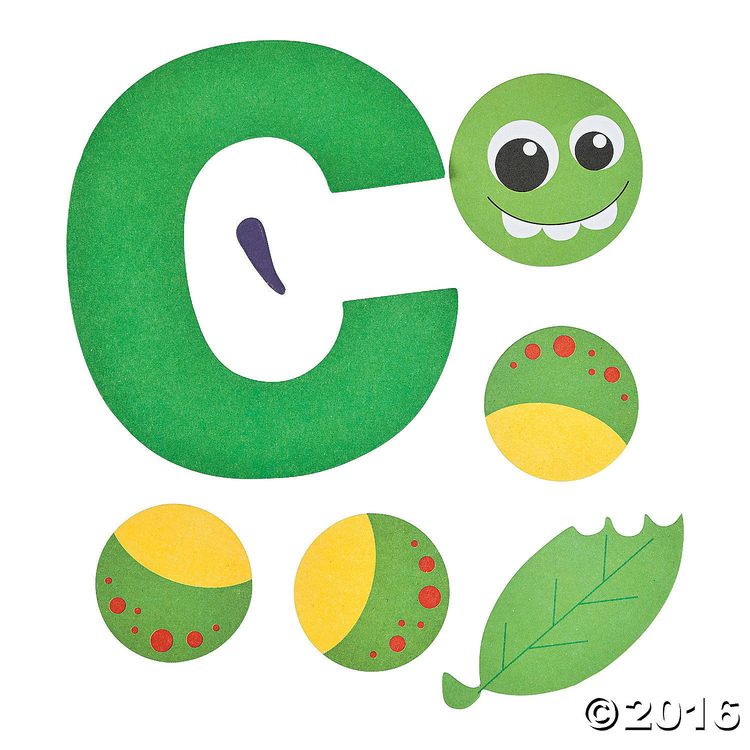 C Is For Caterpillar Lowercase Letter C Craft Kit