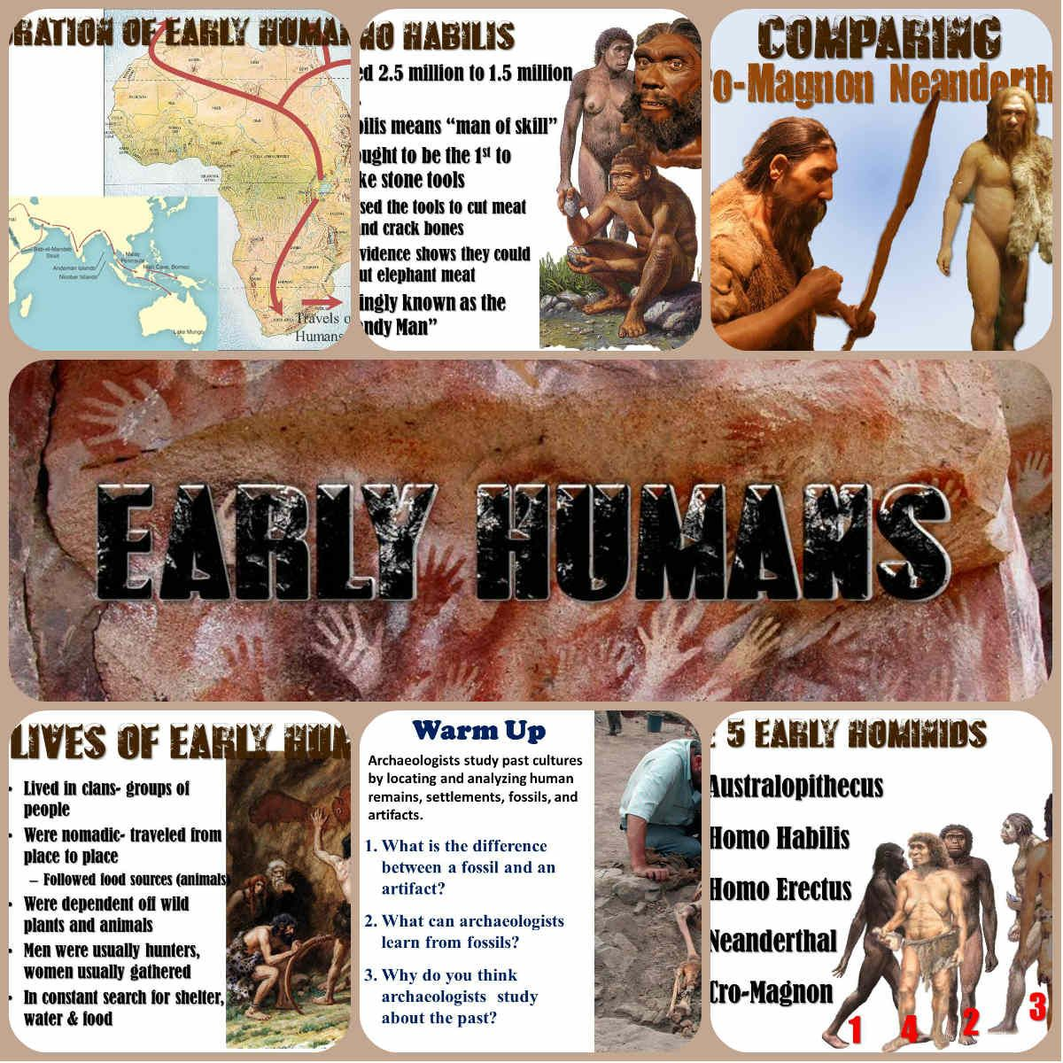 Early Humans And Hominids Powerpoint