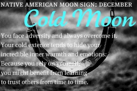 Image result for native american moon sign cold moon pinterest