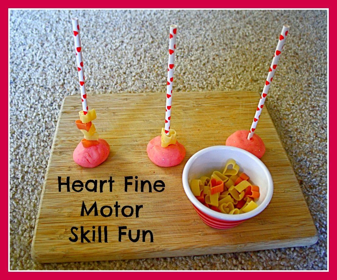 Toddler Activities Heart Themed Fine Motor Activity