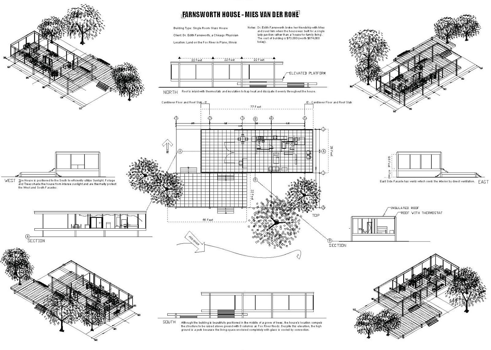Best 25+ Farnsworth House Plan Ideas On Pinterest
