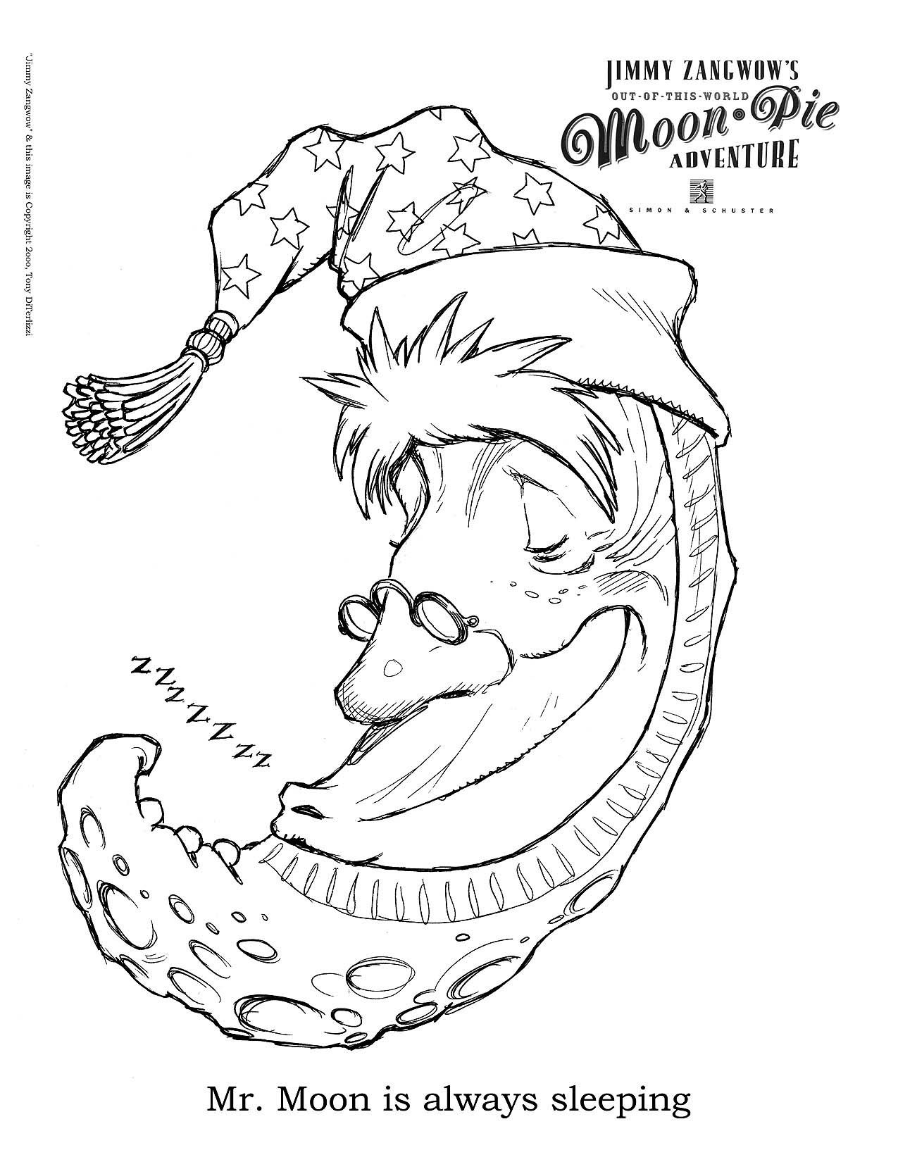 Coloring Pages Of Moon Pie Chinese Moon Festival Coloring