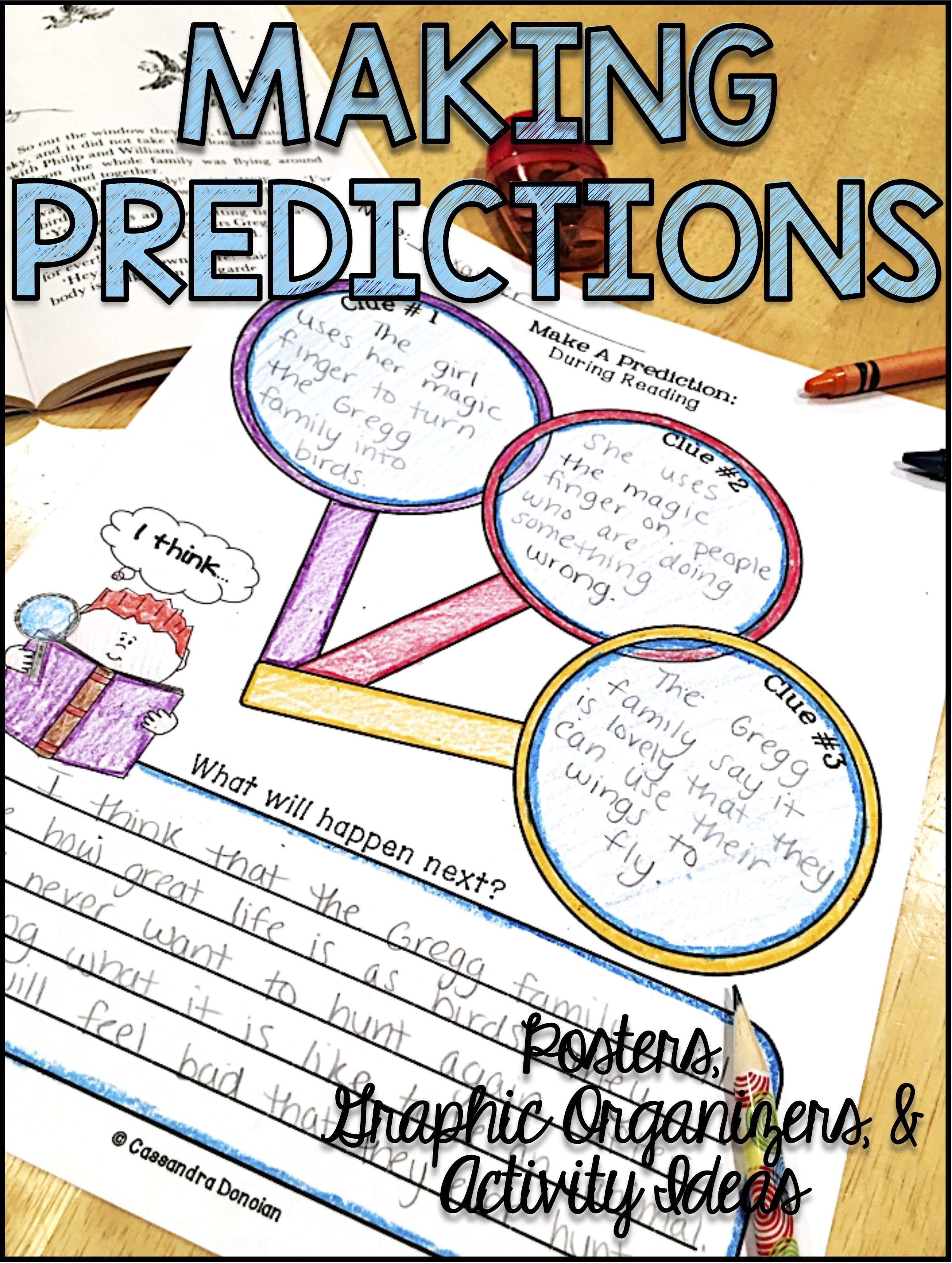 These Making Predictions And Inferences Graphic Organizers