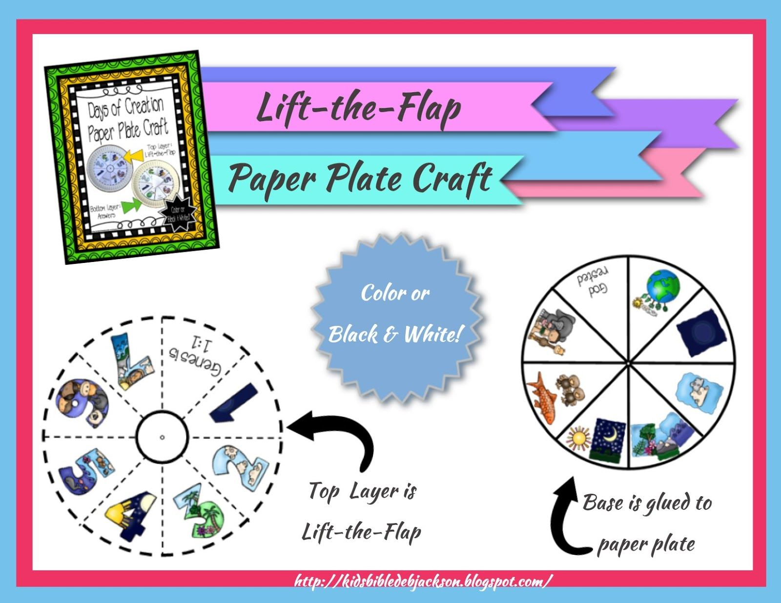 The Creation For Kids Day 7 Paper Plate Project Printable