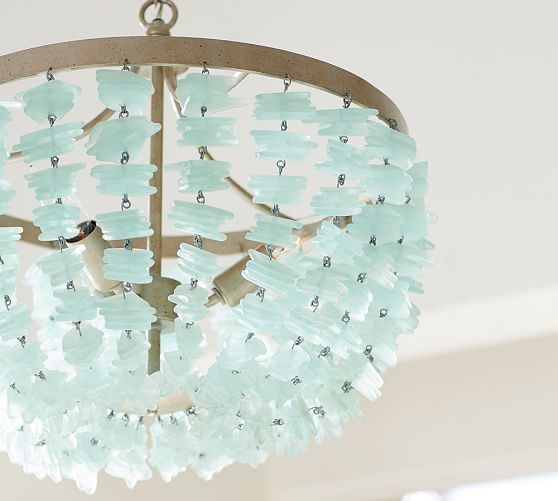 Enya Sea Glass Chandelier Beach House Use 2 Over The Dining Table