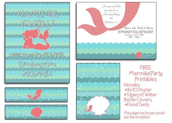 Free Mermaid Party Printables Mandy S Party Printables