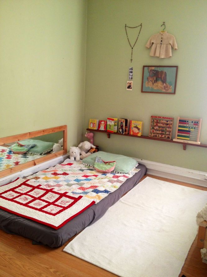 Montessori Floor Bed I Think Will Do This When My Little One Finally Gets