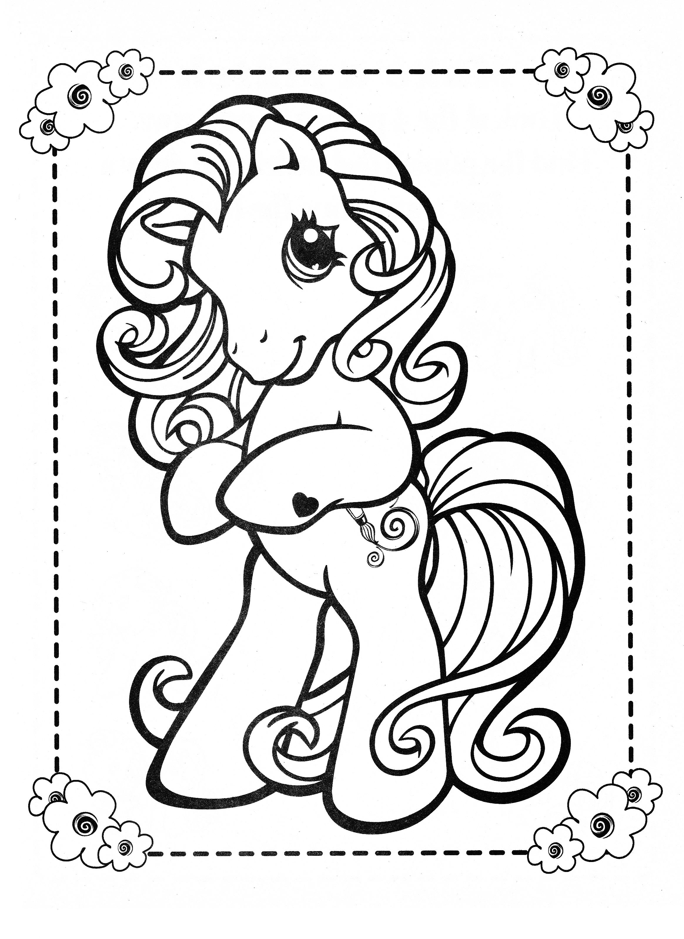 My Little Pony Coloring Page Mlp Toola Roola Health Adult
