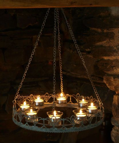 Chandelier Tea Light T Chic Shabby Style Candles