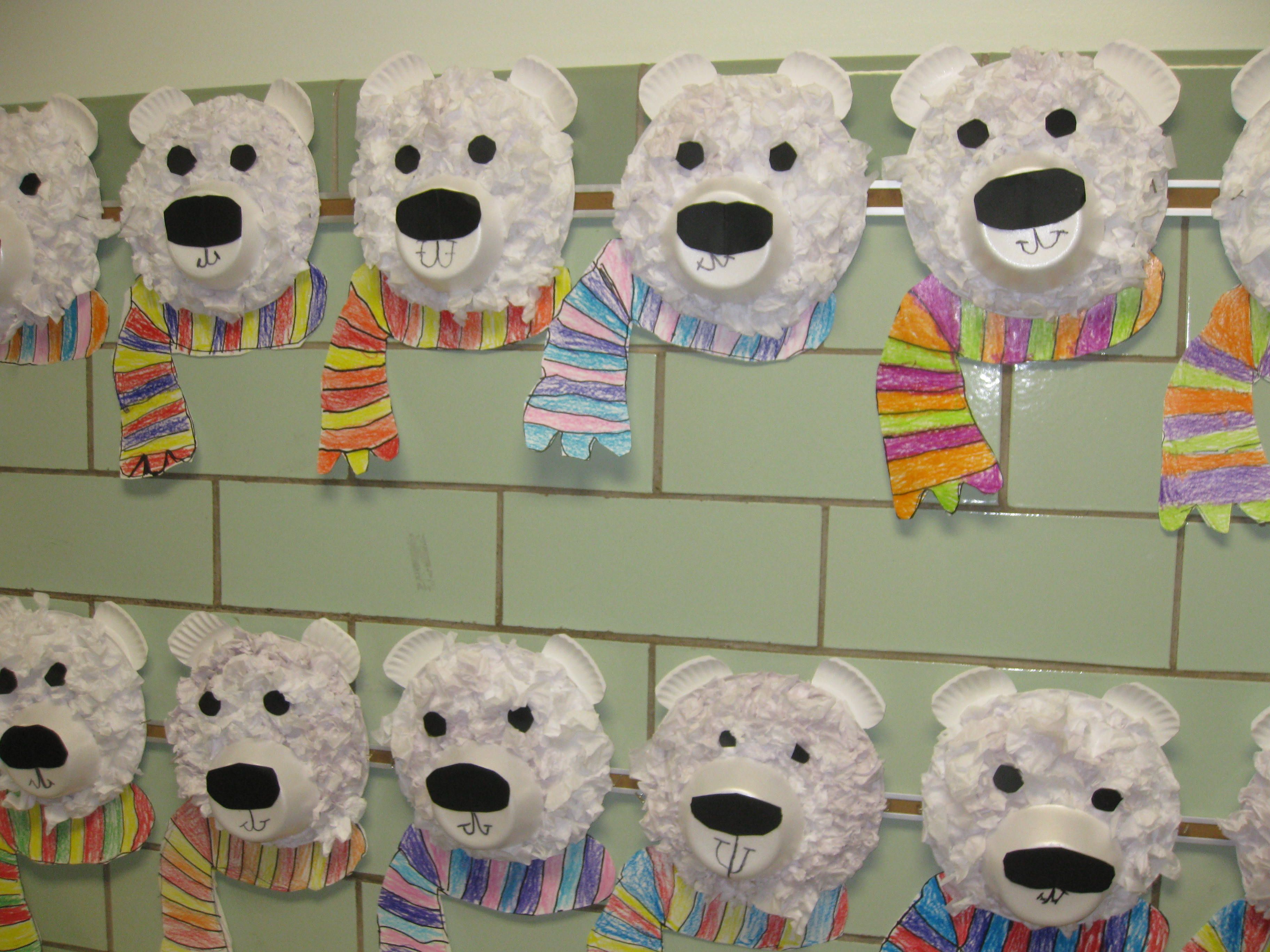 Tissue Paper Collage Polar Bears Gr Would Love To See