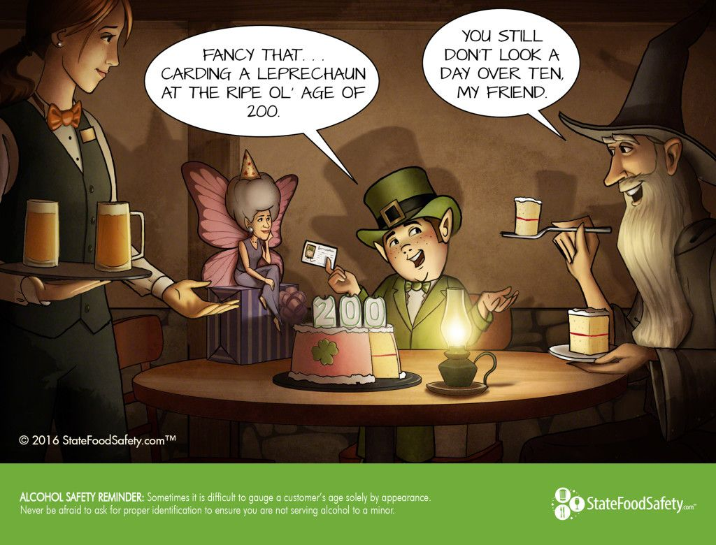 March Cartoon Calendar Activity Alcohol Server Training Discount