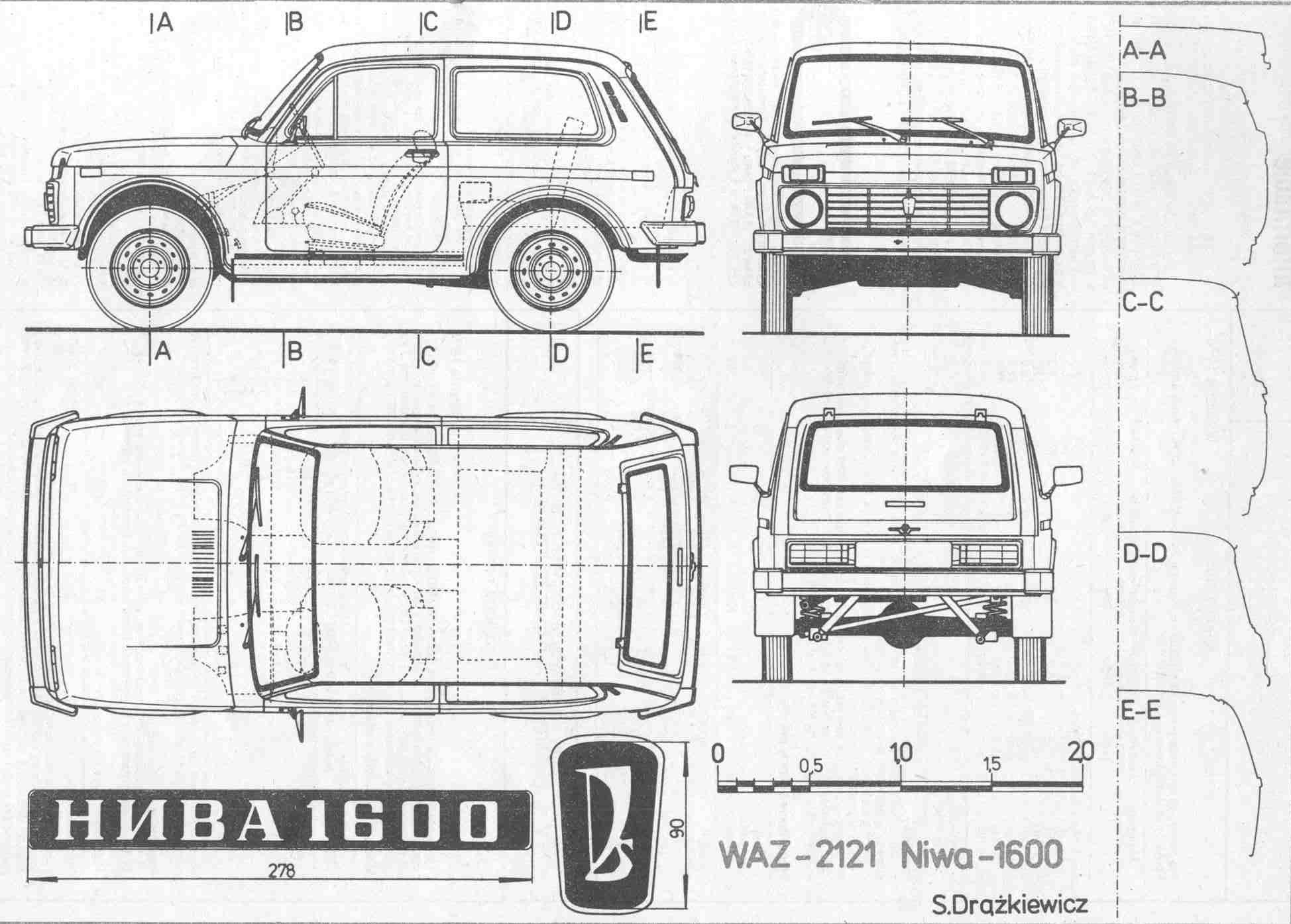 Lada Niva Blueprint