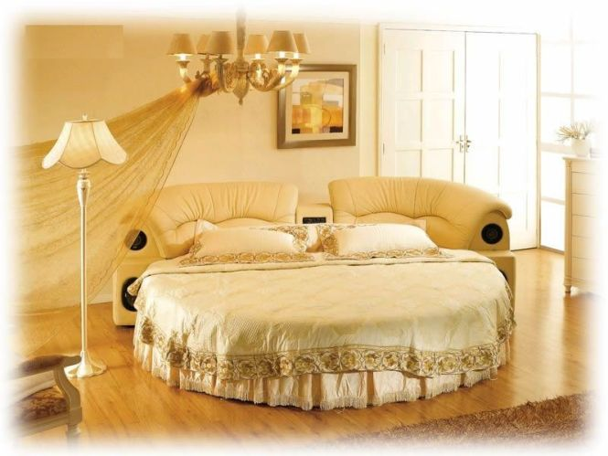 With Mattress Rakuten Circular Bed Round Leather Roman Deal Of Imported Furniture