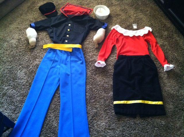 popeye olive oyl halloween costumes jayke