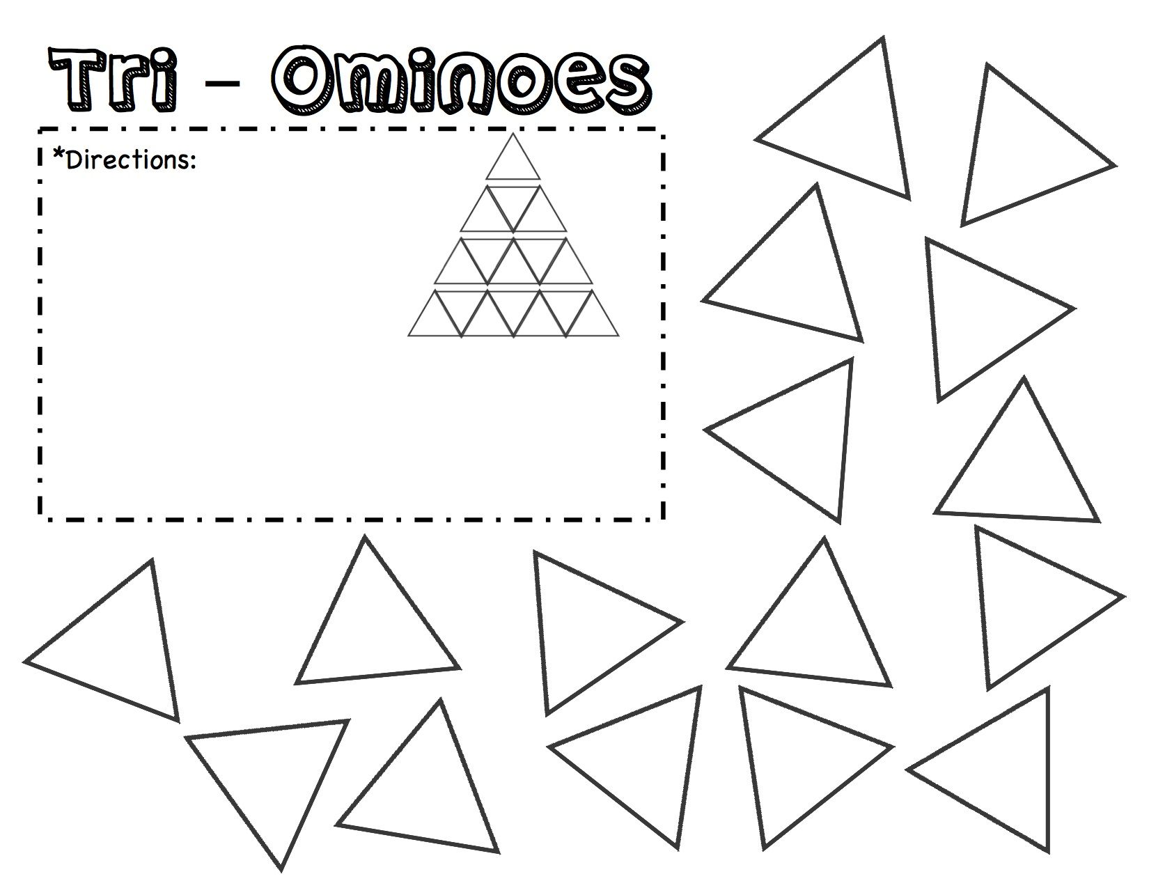 Tri Ominoes Puzzle Template Printable Fill In The Directions And Write In What You Want Them To