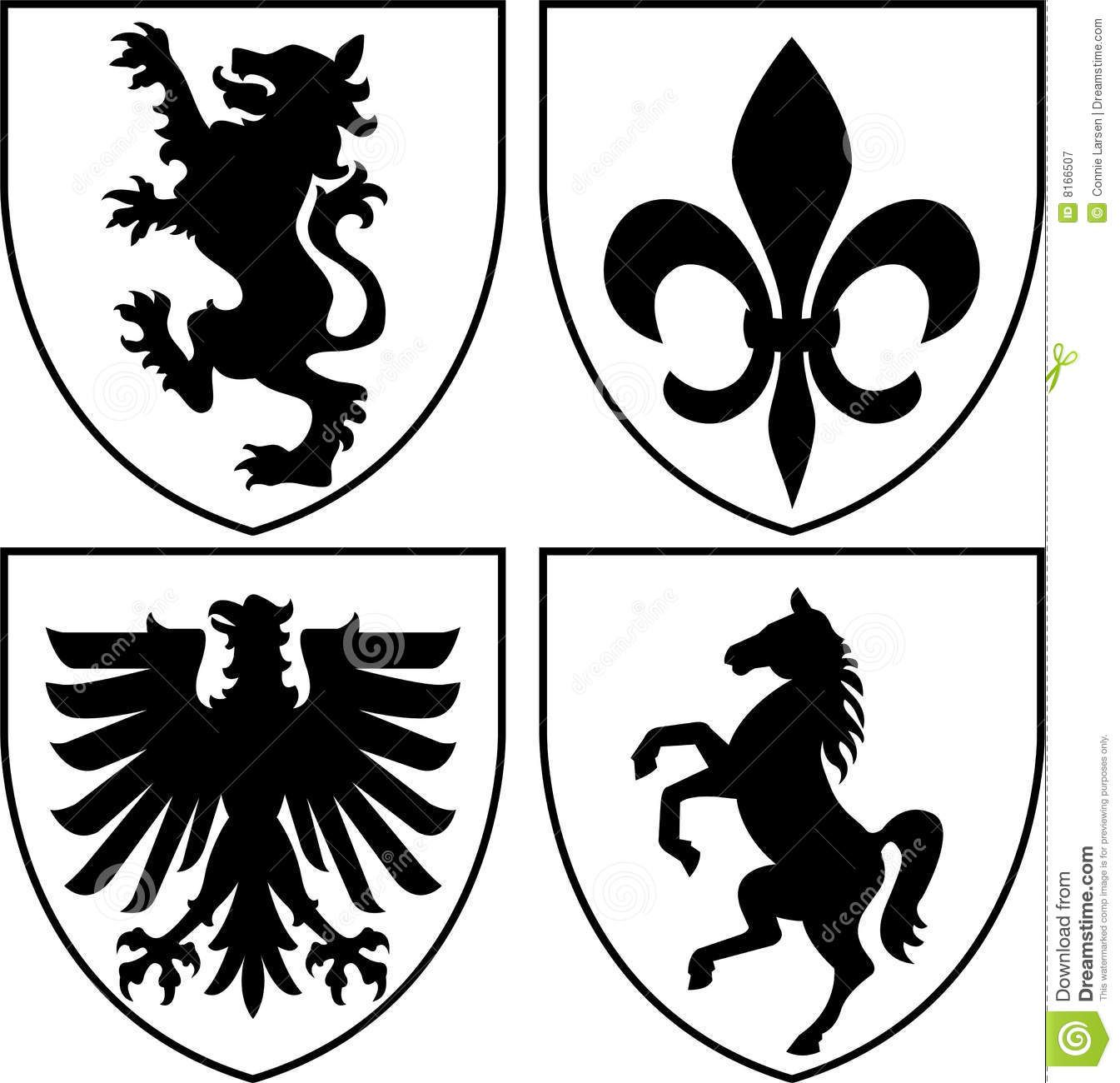 Heraldic Crests Coat Of Arms Eps Royalty Free Stock
