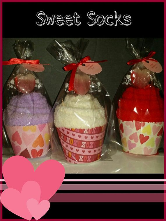 Valentines Day Sock Cupcakes Great Co Worker Nurse