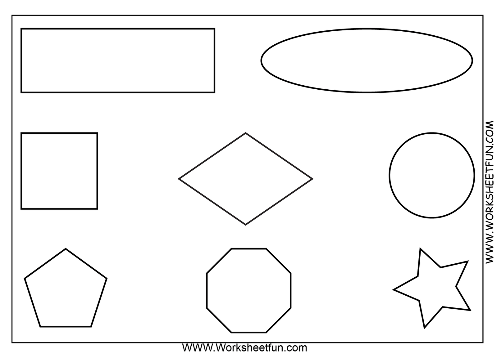Free Printable Math Worksheets Use As An Oral Direction Exam Ex Color The Square Blue Etc