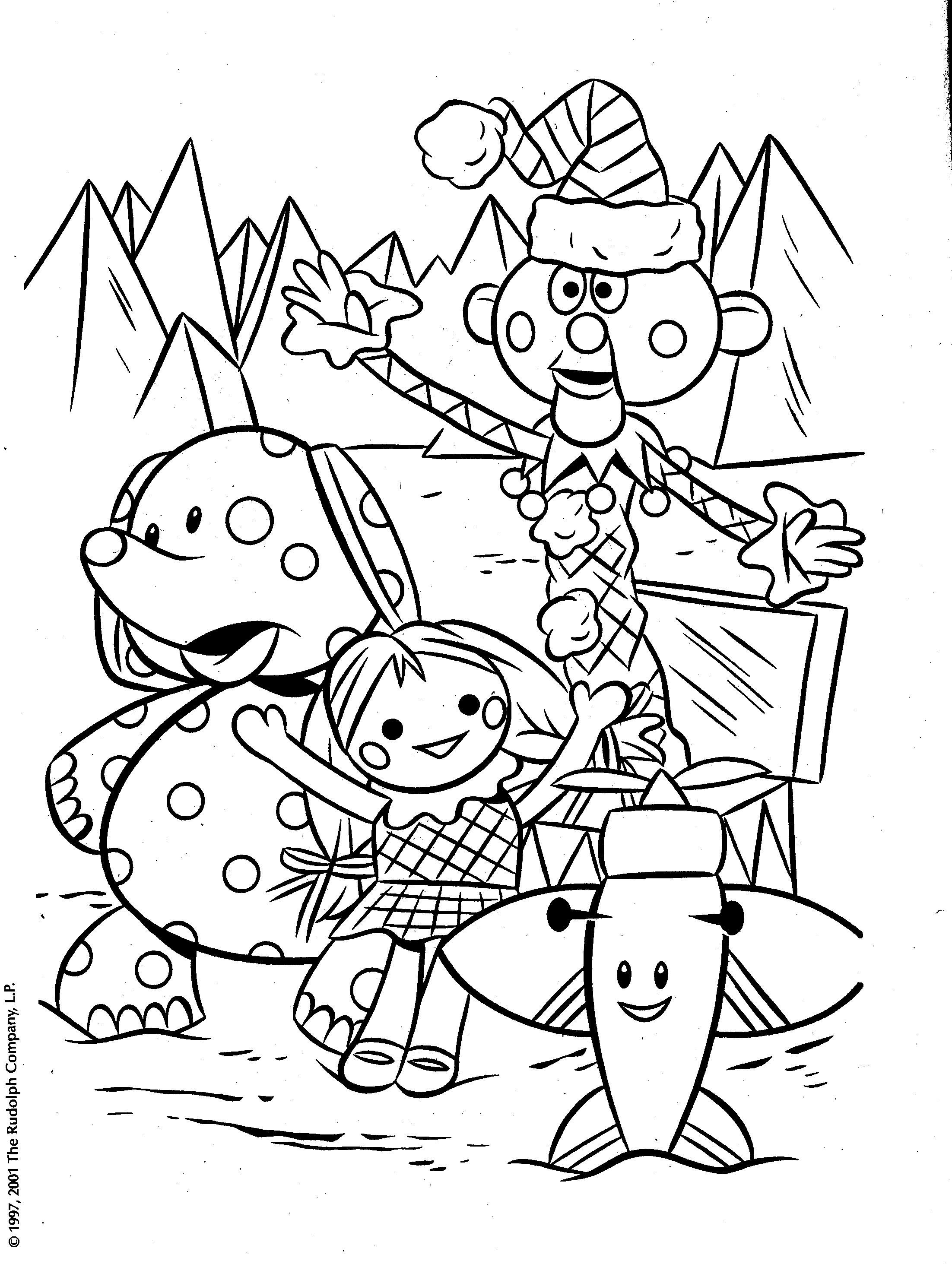 From A Rudolph Coloring Book Of The Misfit Toys