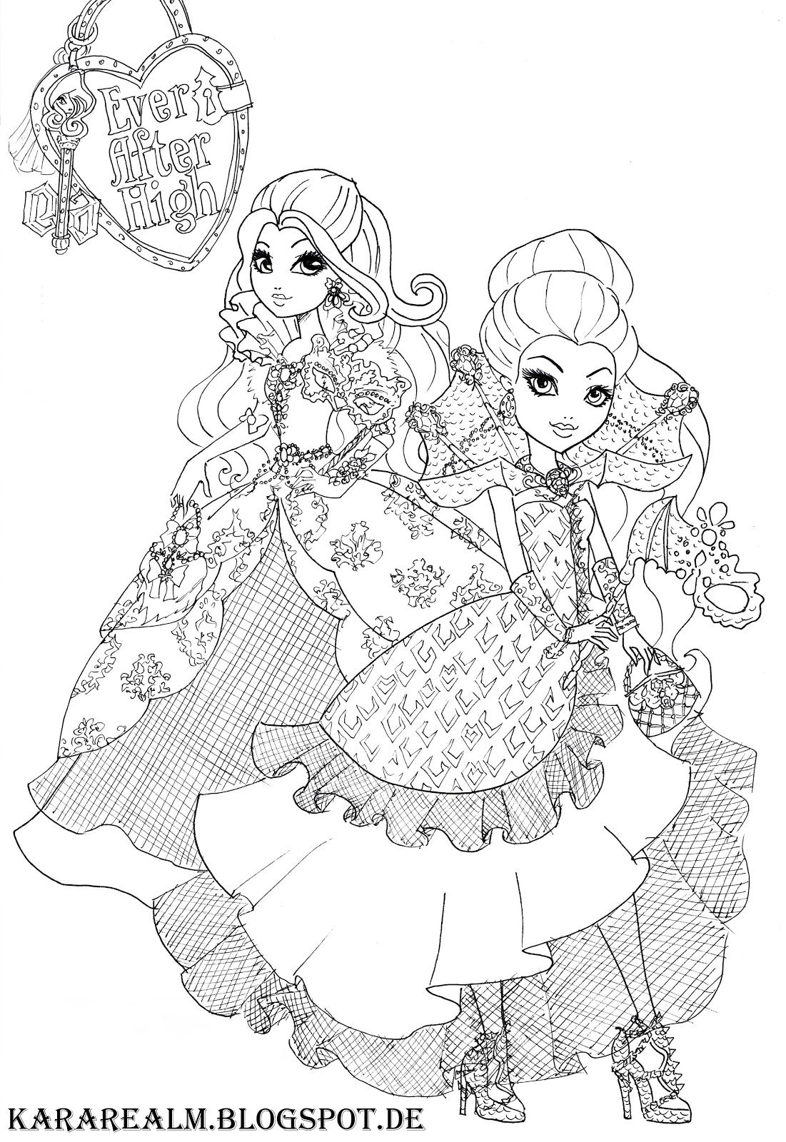 Kara Realm Ever After High Coloring Pages