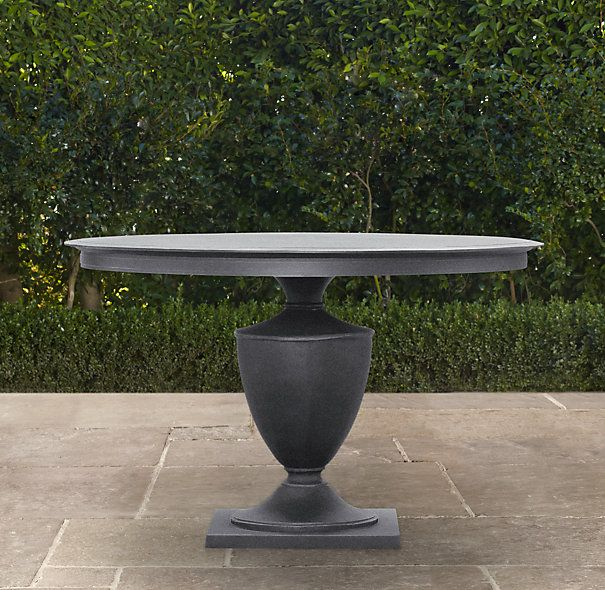 klismos round dining table weathered zinc for the home pinterest round dining table on zink outdoor kitchen id=25769