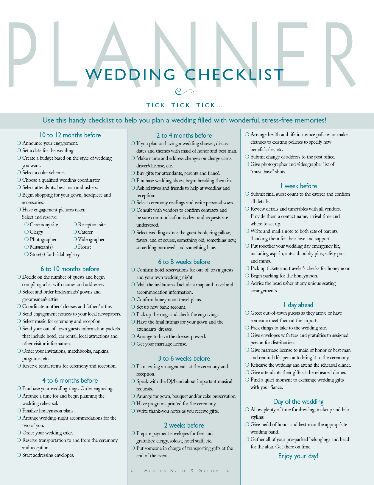 Wedding Organization Planning A Guide For The