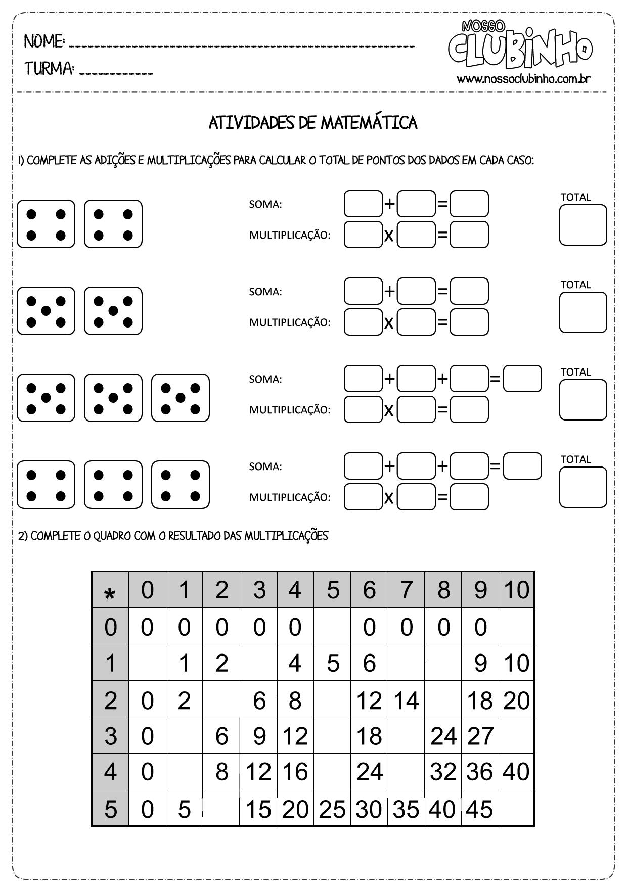 Resultado De Imagem Para Multiplicacao