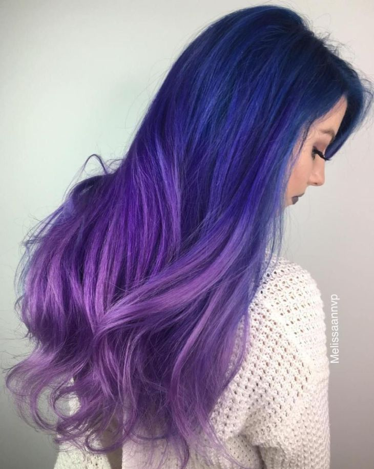FairyLike Blue Ombre Hairstyles Purple ombre Ombre hair and Ombre