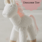 Unicorn toys images  Cute crochet unicorn toy ad anthropologie babygift babyshower