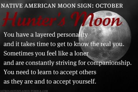 Image result for native american moon sign hunter moon pinterest