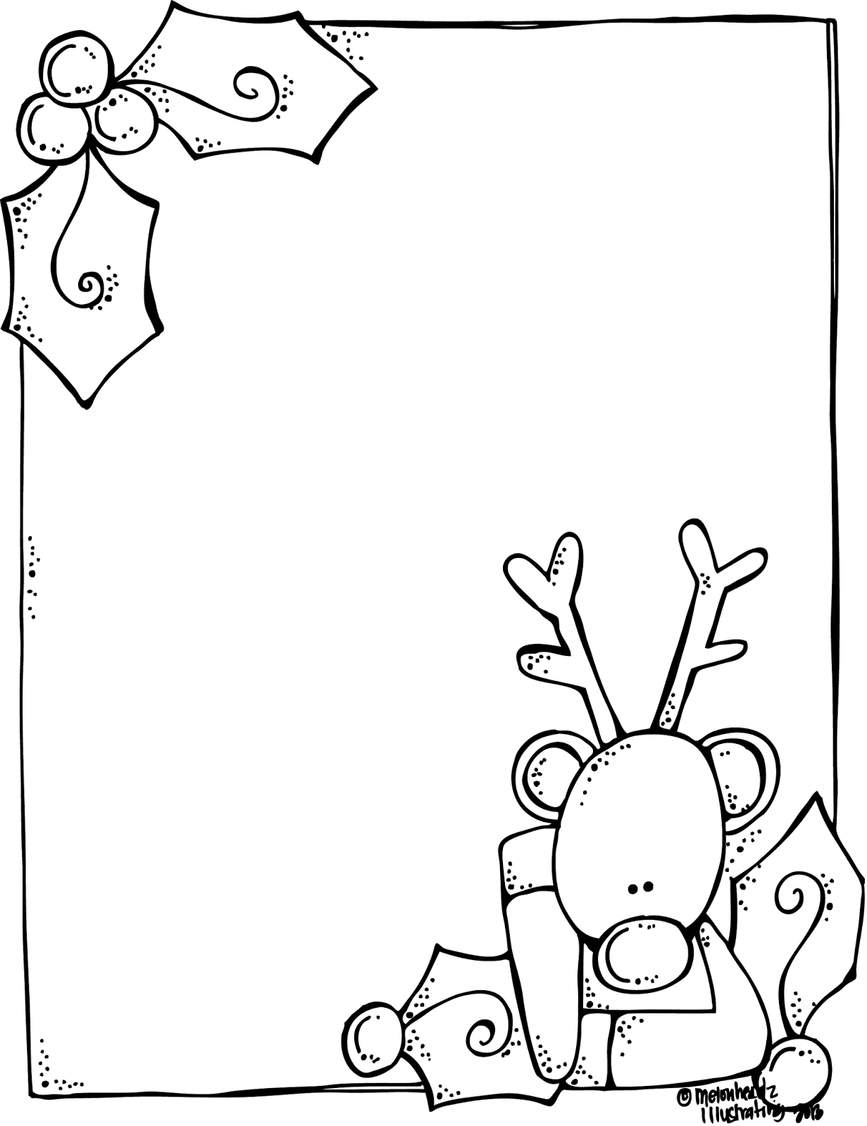 Melonheadz A Blank Rudolph Letter Form For Santa And It S Free
