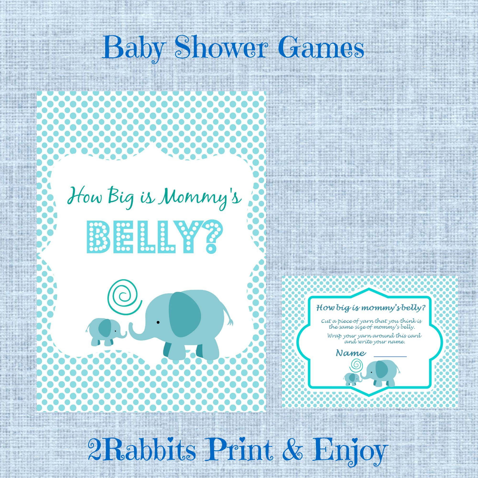 Guess How Big Is Mommy S Belly Printable Baby Shower Game