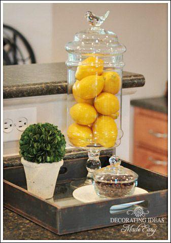 Lemon Kitchen Decor Themes Tuscan Art